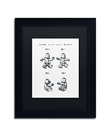"""Claire Doherty 'Lego Man Patent 1979 Page 2 White' Matted Framed Art - 11"""" x 14"""""""