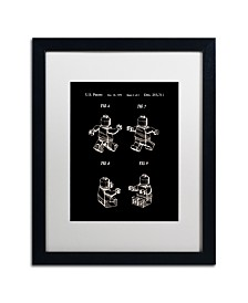 """Claire Doherty 'Lego Man Patent 1979 Page 2 Black' Matted Framed Art - 16"""" x 20"""""""