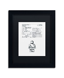 """Claire Doherty 'Lego Man Patent 1979 White' Matted Framed Art - 11"""" x 14"""""""
