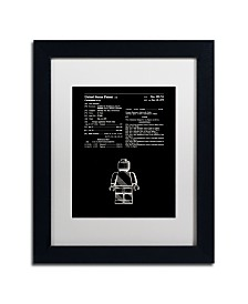 """Claire Doherty 'Lego Man Patent 1979 Black' Matted Framed Art - 11"""" x 14"""""""