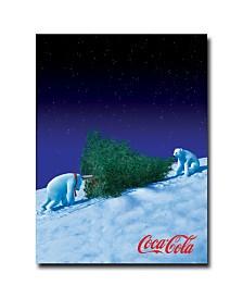 "Coke Polar Bears with Christmas Tree Canvas Art - 18"" x 24"""