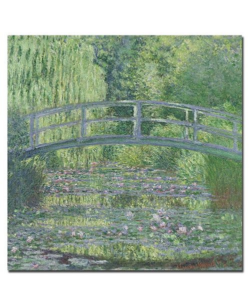 "Trademark Global Claude Monet 'The Waterlily Pond 1899' Canvas Art - 35"" x 35"""