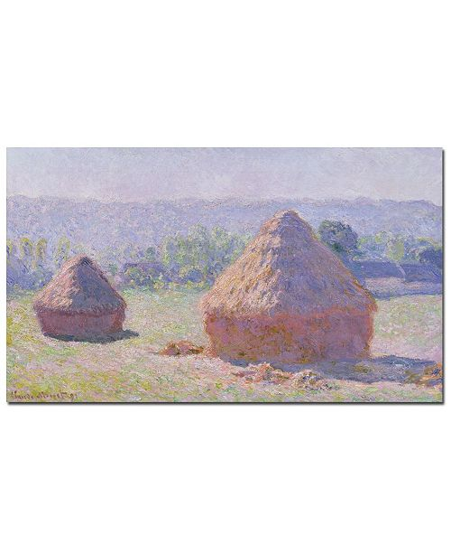"Trademark Global Claude Monet 'Grainstacks on a Summer Morning, 1891' Canvas Art - 47"" x 35"""
