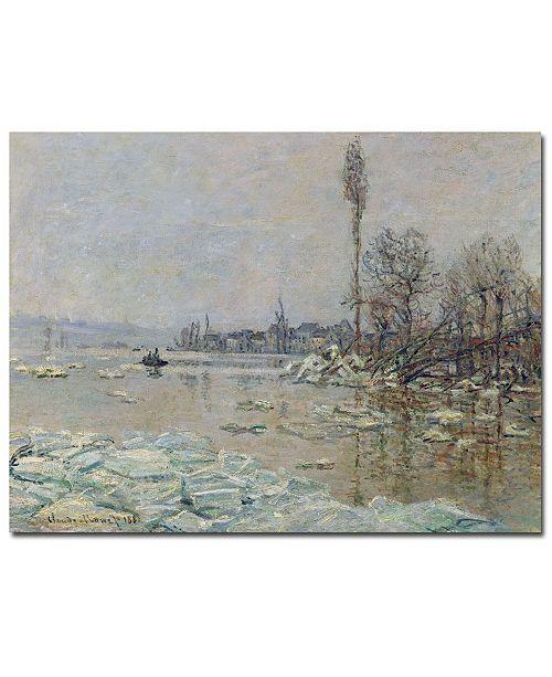 "Trademark Global Claude Monet 'The Breakup of Ice, 1880' Canvas Art - 24"" x 18"""