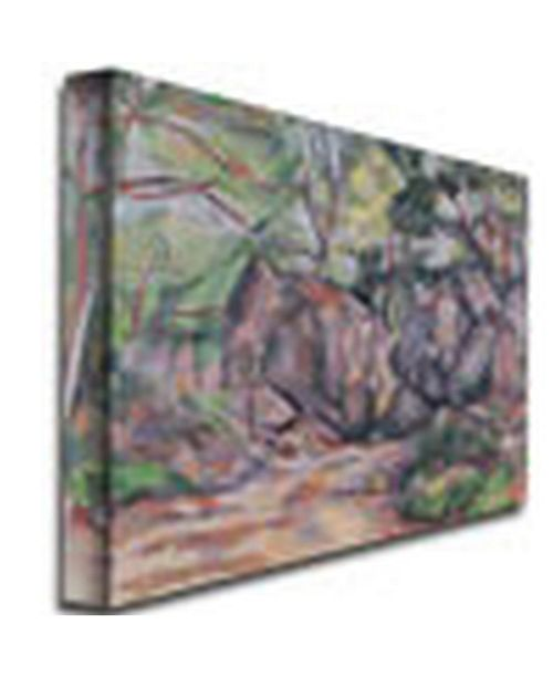"Trademark Global Paul Cezanne 'Woodland with Boulders, 1893' Canvas Art - 32"" x 26"""