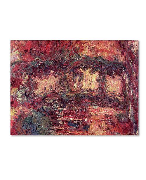 "Trademark Global Claude Monet 'Japanese Bridge at Giverny, 1923' Canvas Art - 32"" x 24"""