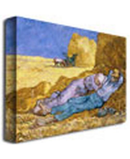 62f7a900788a ... Trademark Global Vincent van Gogh 'Siesta, After Mille, 1890' Canvas  Art ...