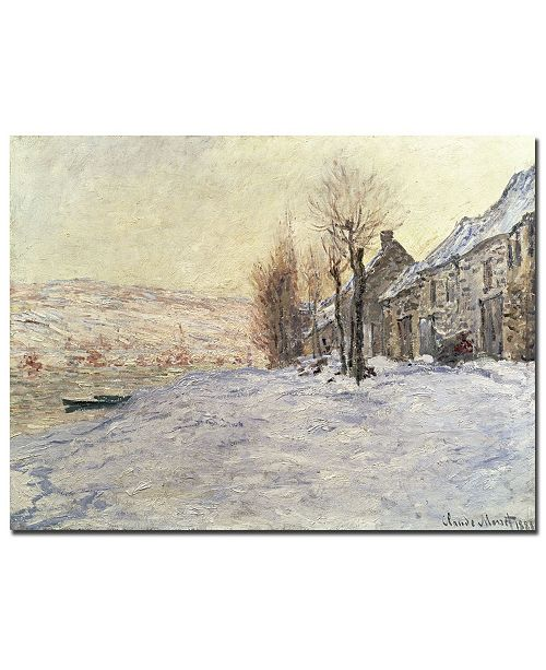 "Trademark Global Claude Monet 'Lavacourt Under Snow 1878-81' Canvas Art - 24"" x 18"""