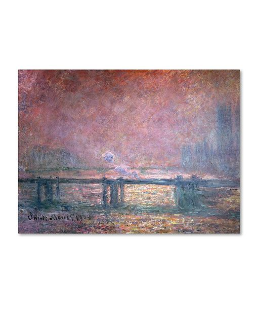 "Trademark Global Claude Monet 'The Thames at Charing Cross' Canvas Art - 24"" x 18"""