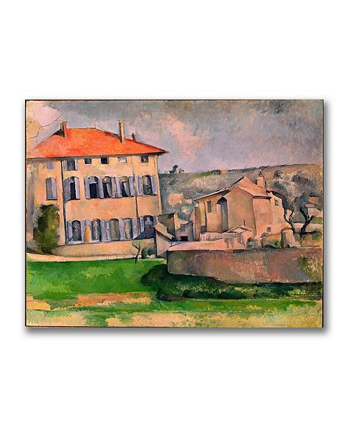 "Trademark Global Paul Cezanne 'Jas de Bouffan' Canvas Art - 32"" x 26"""