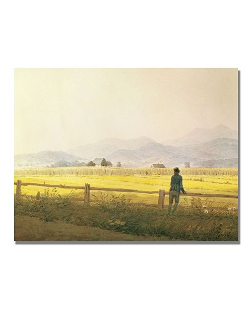"Trademark Global Caspar Friedrich 'View of Schmiedeberge' Canvas Art - 47"" x 35"""