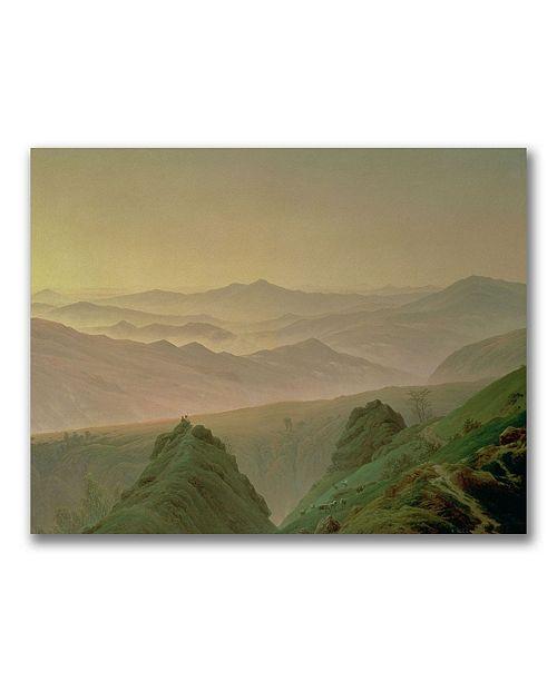 "Trademark Global Caspar David Friedrich 'Morning in the Mountain' Canvas Art - 47"" x 35"""