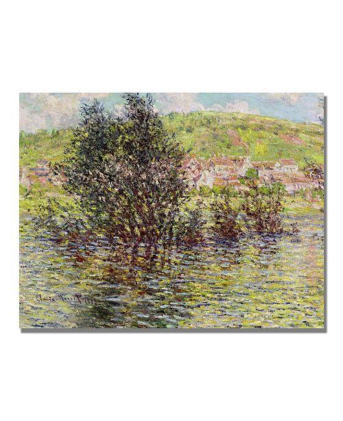 "Trademark Global Claude Monet 'Vetheuil View from Lavacourt' Canvas Art - 32"" x 24"""