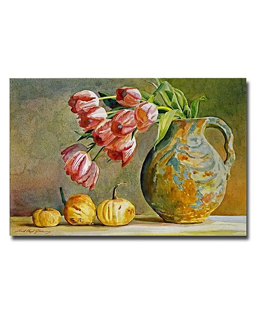 "Trademark Global David Lloyd Glover 'Soft Tulips in the Pottery' Canvas Art - 24"" x 16"""
