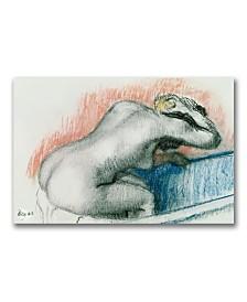 """Edgar Degas 'Woman Washing in the Bath' Canvas Art - 24"""" x 16"""""""