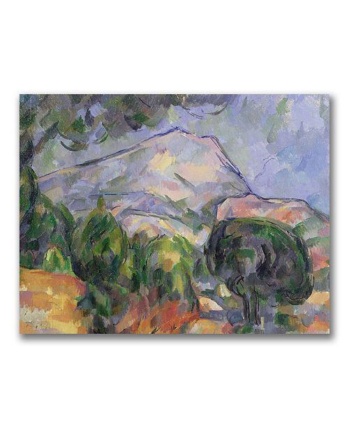 "Trademark Global Paul Cezanne 'Montagne Sainte-Victoire II' Canvas Art - 24"" x 18"""