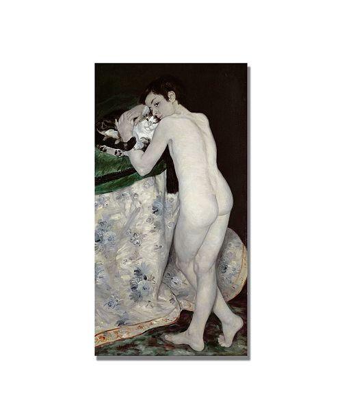 "Trademark Global Pierre Auguste Renoir 'A Boy with a Cat' Canvas Art - 47"" x 24"""