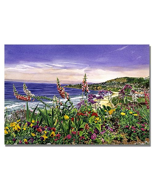 "Trademark Global David Lloyd Glover 'Laguna Niguel Garden' Canvas Art - 32"" x 22"""