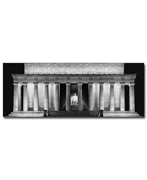 Canvas Lincoln Tech >> Trademark Global Gregory O Hanlon Lincoln Memorial Night Canvas