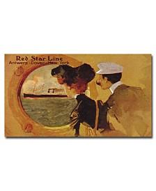 "Red Star Line' Canvas Art - 24"" x 14"""