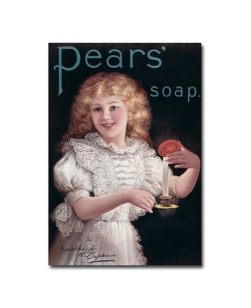 "Trademark Global 'Pears Soap' Canvas Art - 24"" x 18"""