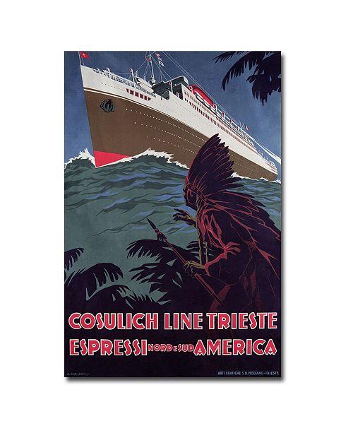 "Trademark Global Cosulich Line' Canvas Art - 32"" x 22"""
