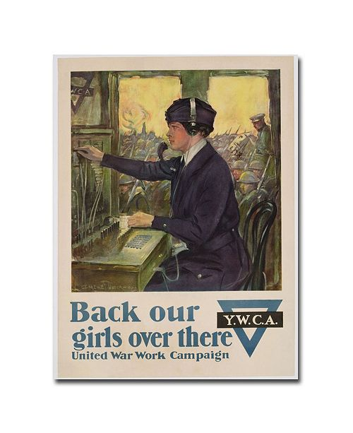 """Trademark Global Clarence Underwood 'Back Our Girls Over There 1918' Canvas Art - 24"""" x 18"""""""