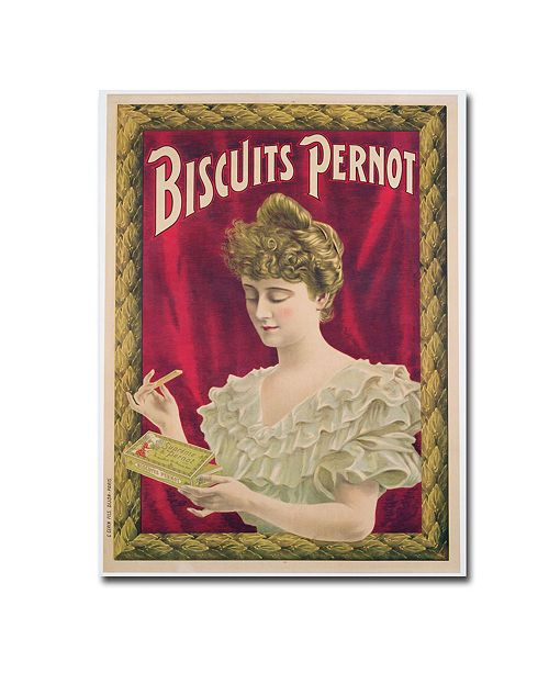 "Trademark Global Pernot Biscuits 1902' Canvas Art - 47"" x 35"""