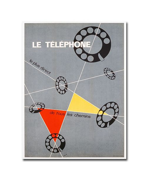 "Trademark Global Choi 'Le Telephone 1937' Canvas Art - 32"" x 24"""