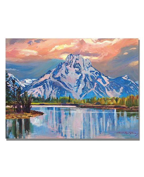 "Trademark Global David Lloyd Glover 'Majestic Blue Mountain' Canvas Art - 24"" x 18"""