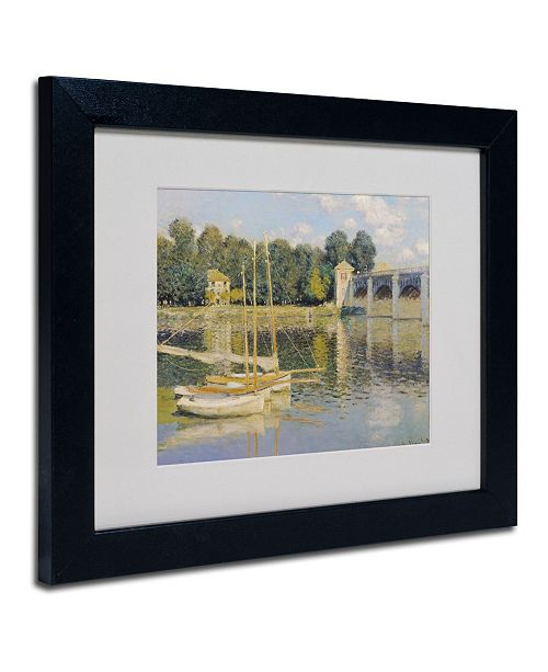 "Trademark Global Claude Monet 'The Bridge at Argenteuil' Matted Framed Art - 14"" x 11"""