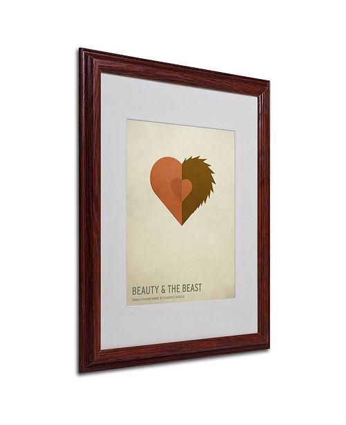 "Trademark Global Christian Jackson 'Beauty and the Beast' Matted Framed Art - 20"" x 16"""