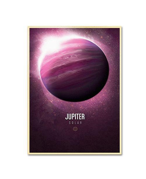 "Trademark Global Christian Jackson 'Jupiter' Canvas Art - 19"" x 14"""