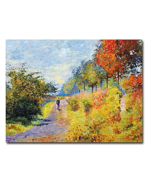 "Trademark Global David Lloyd Glover 'The Sheltered Path' Canvas Art - 47"" x 35"""