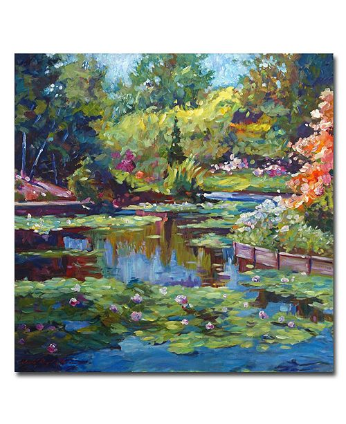 "Trademark Global David Lloyd Glover 'Serenity Pond' Canvas Art - 24"" x 24"""