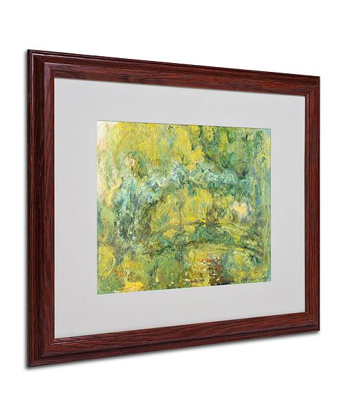 "Trademark Global Claude Monet 'Passage On Waterlily Pond' Matted Framed Art - 20"" x 16"""