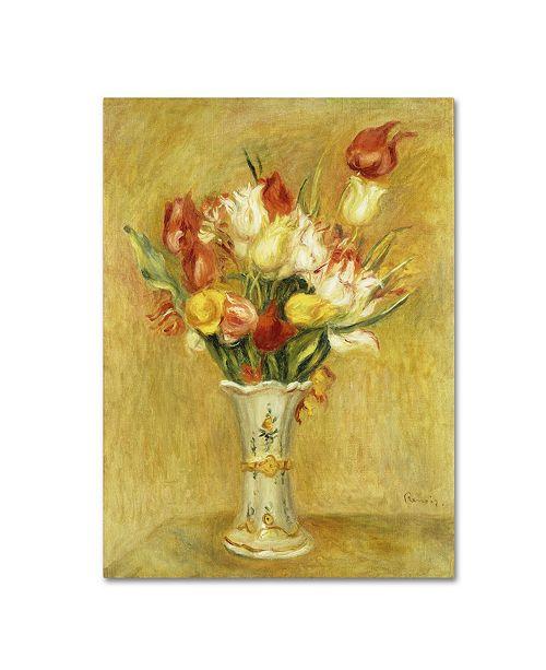 "Trademark Global Pierre Auguste Renoir 'Tulipes 1909' Canvas Art - 32"" x 24"""