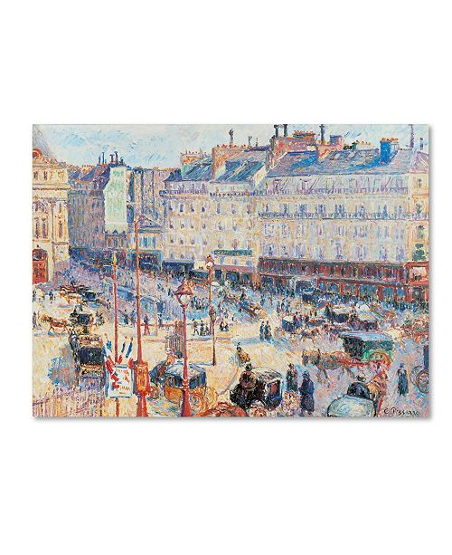 "Trademark Global Camille Pissarro 'Place du Havre 1893' Canvas Art - 24"" x 18"""