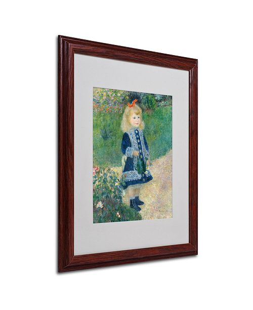 "Trademark Global Pierre Auguste Renoir 'A Girl With a Watering Can' Matted Framed Art - 20"" x 16"""