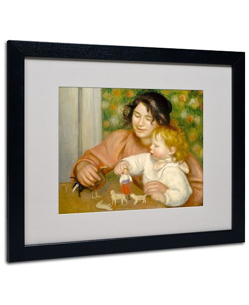 "Trademark Global Pierre Auguste Renoir 'Child With Toys 1895-96' Matted Framed Art - 20"" x 16"""