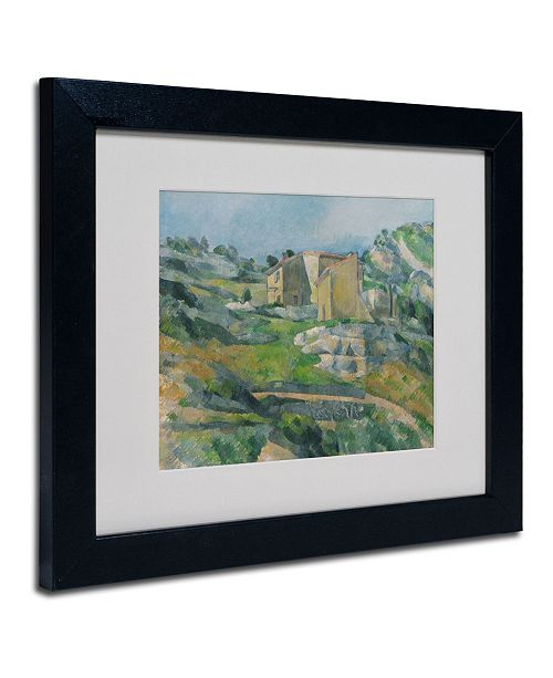 """Trademark Global Paul Cezanne 'Houses In the Provence 1833' Matted Framed Art - 14"""" x 11"""""""