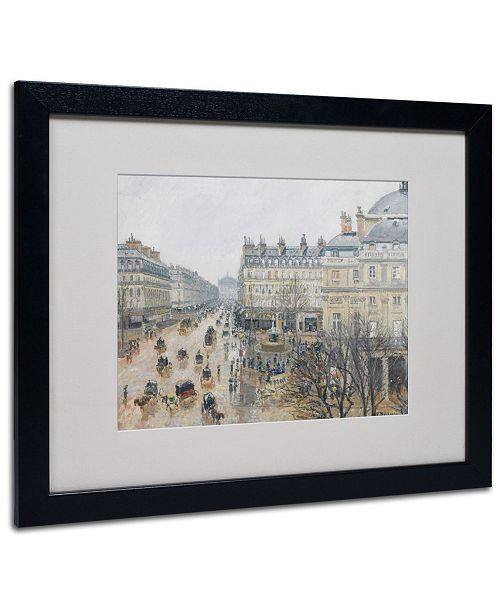 "Trademark Global Camille Pissarro 'Place du Theatre' Matted Framed Art - 20"" x 16"""