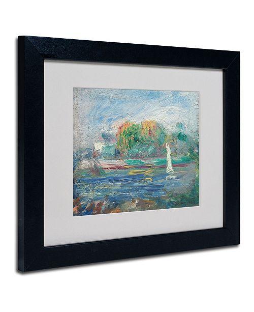 "Trademark Global Pierre Auguste Renoir 'The Blue River 1890-1900' Matted Framed Art - 14"" x 11"""