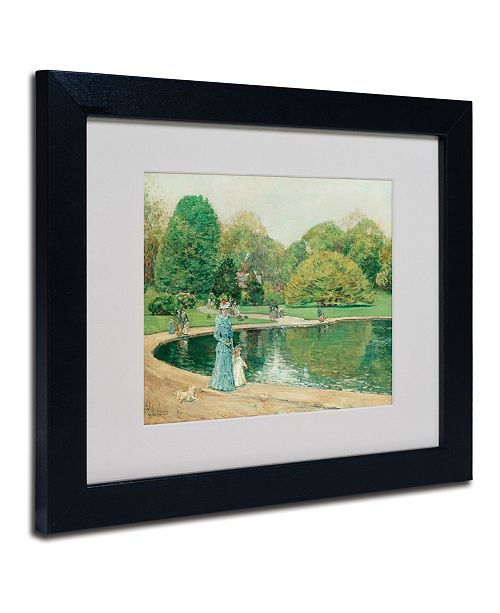 "Trademark Global Childe Hassam 'Central Park' Matted Framed Art - 14"" x 11"""