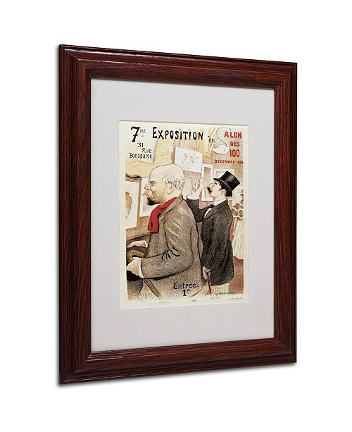 """Trademark Global 'Poster of Paul Verlaine and Jean Moreas' Matted Framed Art - 14"""" x 11"""""""