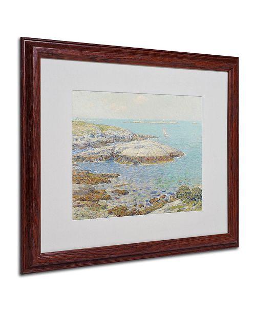 "Trademark Global Childe Hassam 'Isles of Shoals 1899' Matted Framed Art - 20"" x 16"""