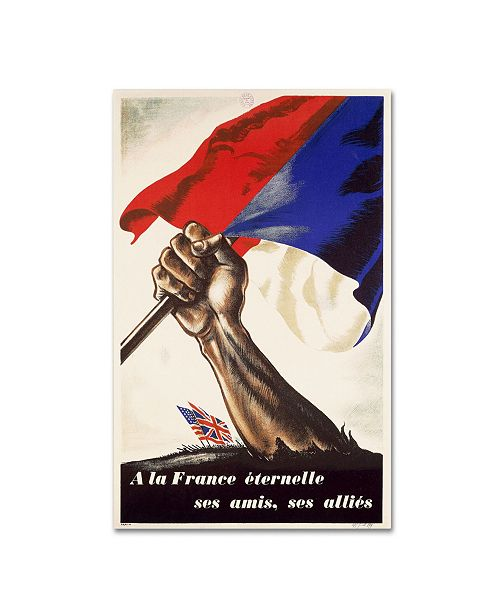 """Trademark Global 'Poster for Liberation of France' Canvas Art - 32"""" x 22"""""""