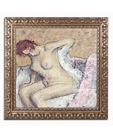 "Edgar Degas 'After Bath 1886' Ornate Framed Art - 16"" x 16"""