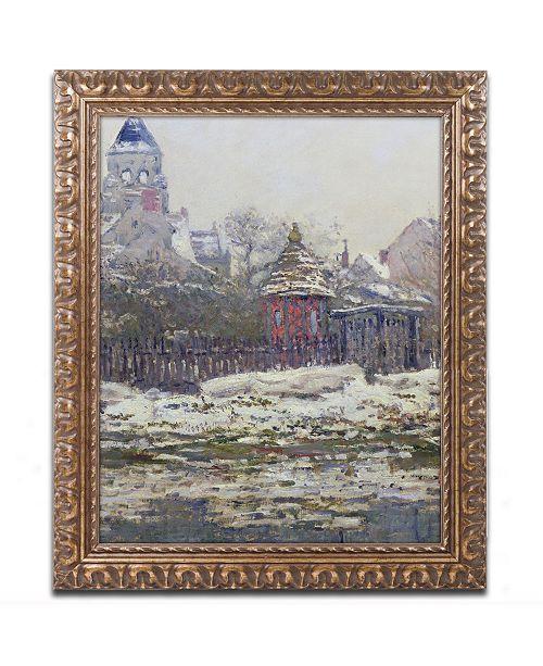 """Trademark Global Claude Monet 'The Church at Vetheuil 1879' Ornate Framed Art - 14"""" x 11"""""""