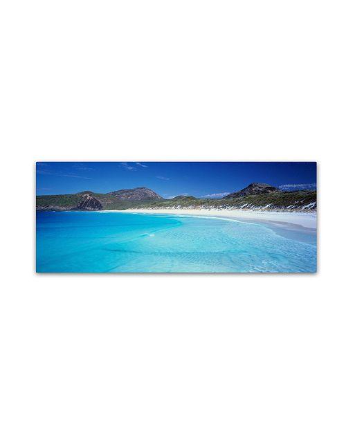 "Trademark Global David Evans 'Hellfire Bay-WA' Canvas Art - 32"" x 10"""